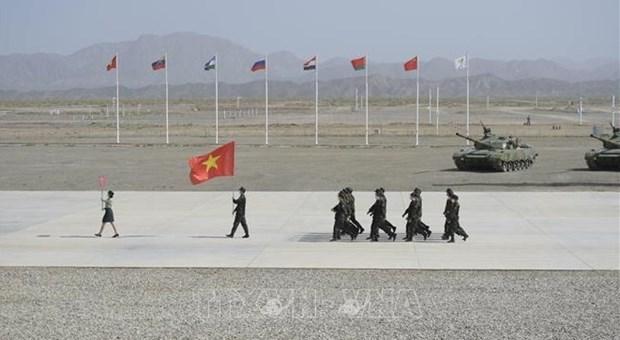 2021国际军事比赛:越南人民军参赛队经过三天角逐后成绩排名暂列第八位 hinh anh 1