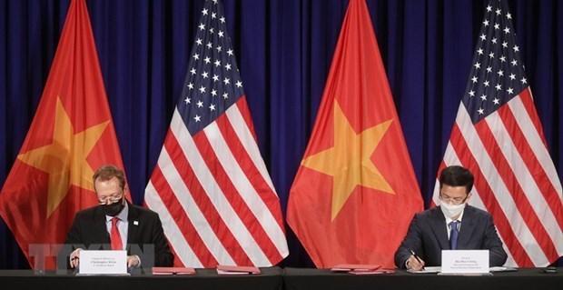 关于美国驻越南大使馆新办公楼建设场地的协议正式签署 hinh anh 1
