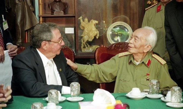 武元甲大将诞辰110周年:通过在阿尔及利亚的历史资料图片展展现国际友人的敬仰之情 hinh anh 1