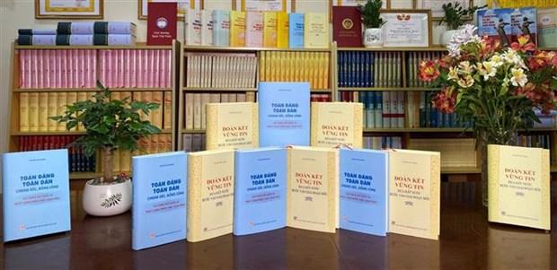 越共中央总书记阮富仲的两本著作出版发行 hinh anh 1