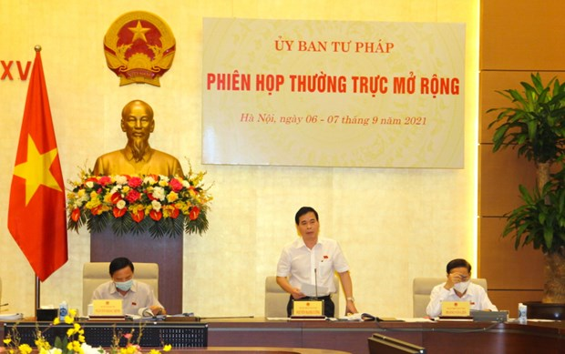 国会司法委员会会议:巩固人民对反腐的信心 hinh anh 1
