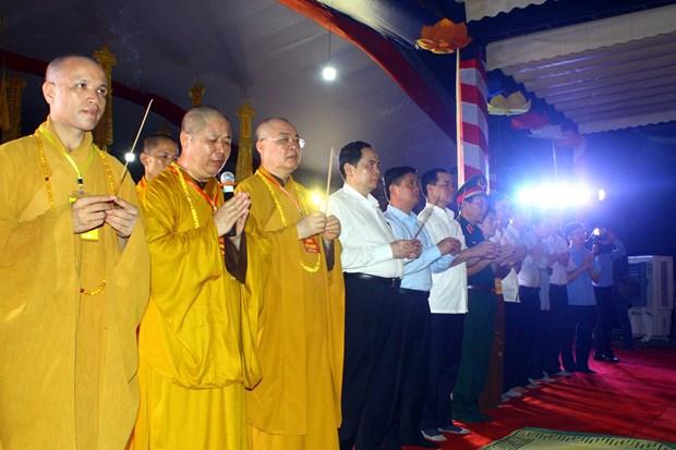 缅怀援老越南志愿军超度法会在乂安省越老国际烈士陵园举行 hinh anh 2