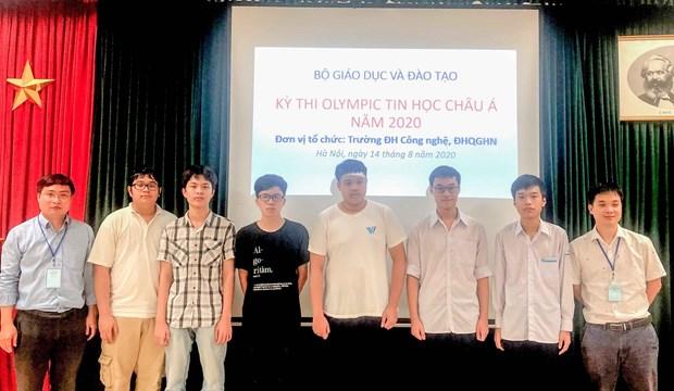 2020年亚洲与太平洋地区信息学奥林匹克竞赛:参赛的6名越南学生均获奖 hinh anh 1
