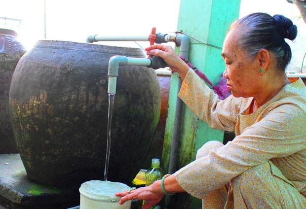 隆安省力争2025年65%家庭能够使用清洁用水 hinh anh 1