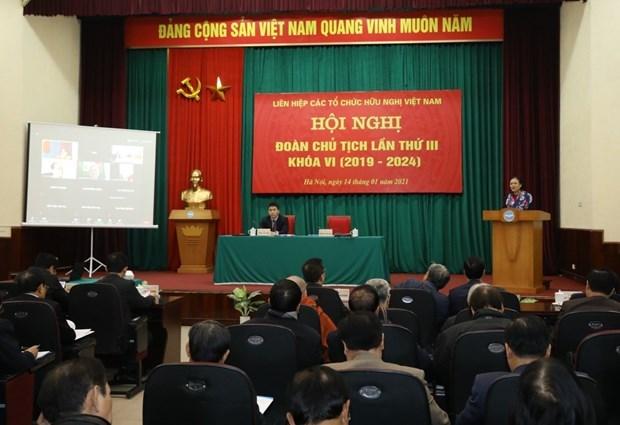 越南友好组织联合会加强和平团结友好活动 hinh anh 1