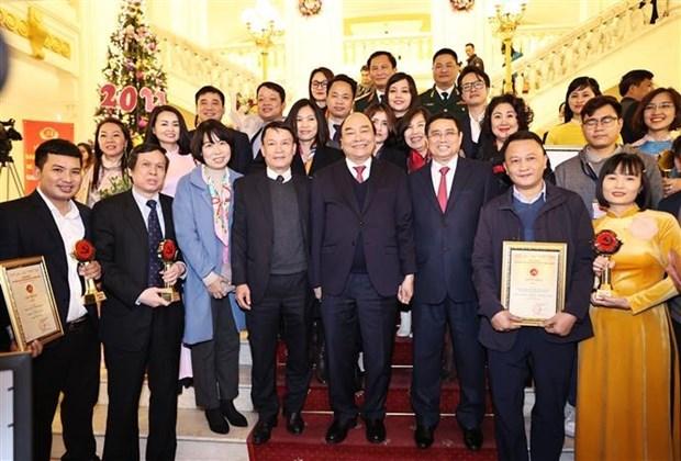 党建:2020年第五次党建工作全国新闻奖颁奖仪式在河内隆重举行 hinh anh 1