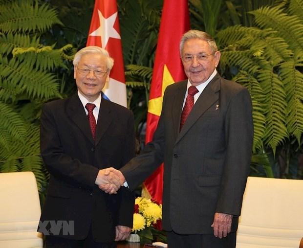 古巴共产党中央委员会第一书记致电祝贺越共中央总书记、国家主席阮富仲 hinh anh 1