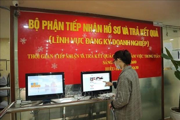 2021年1月越南新成立企业数量同比增长近22% hinh anh 1