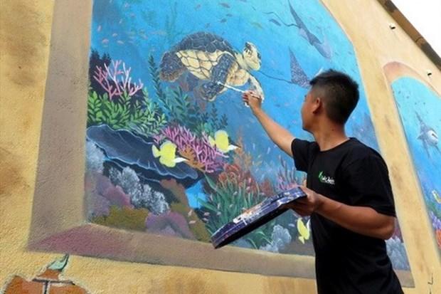 街头艺术项目首次在胡志明市展开 hinh anh 1
