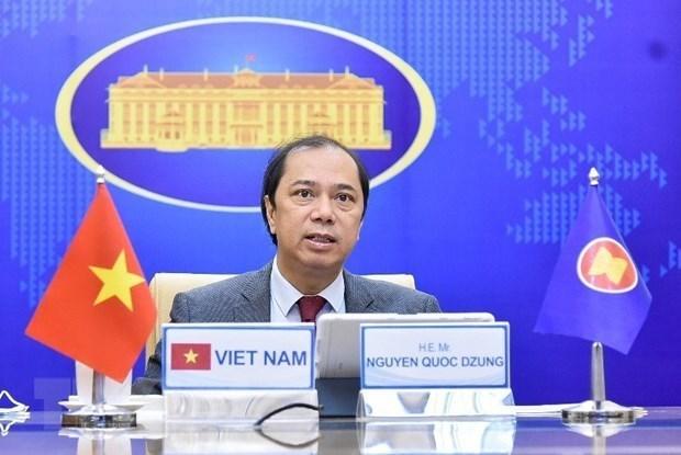 越南外交部副部长与泰国外交部常务副书记举行视频会谈 hinh anh 1