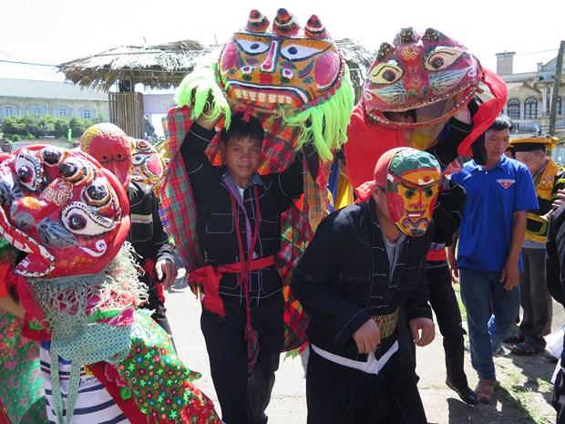 猫狮子舞——谅山省的国家非物质文化遗产 hinh anh 1