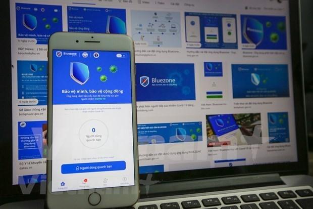 越南全国下载安装Bluezone电子口罩应用程序高达3000万次 hinh anh 1