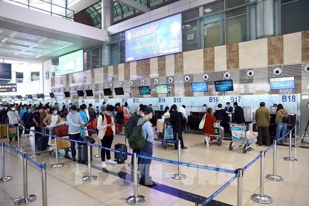 2021年前两个月越南各家航空公司的准点率接近96% hinh anh 1