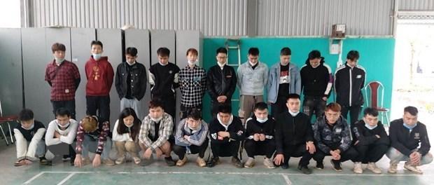 高平省:将非法入境越南的22名中国人送到医学隔离区 hinh anh 1