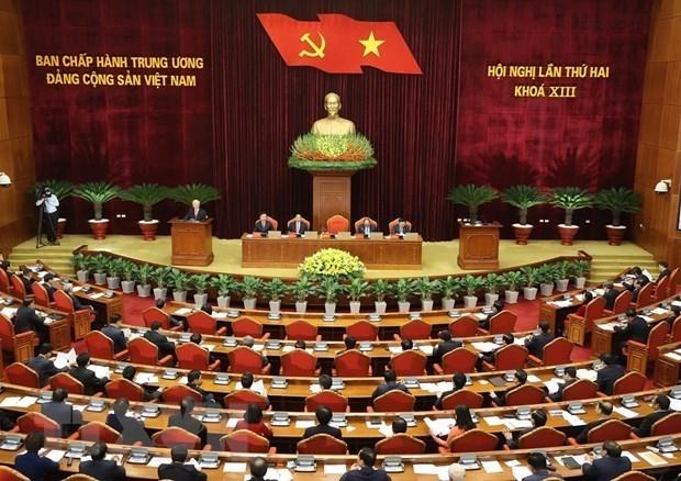 越共十三届中央委员会第二次全体会议:健全国家机构领导职务 hinh anh 1