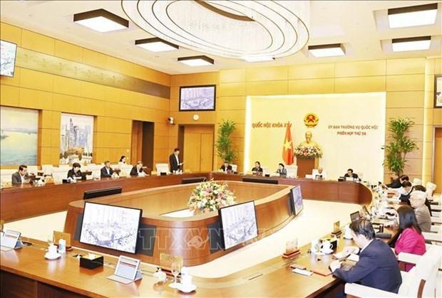 越南国会常务委员会第54次会议闭幕:提请越南国会第十一次会议健全国家领导人人选 hinh anh 1