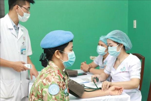 新冠肺炎疫情:为即将赴南苏丹参加维和行动的战士接种新冠疫苗 hinh anh 1
