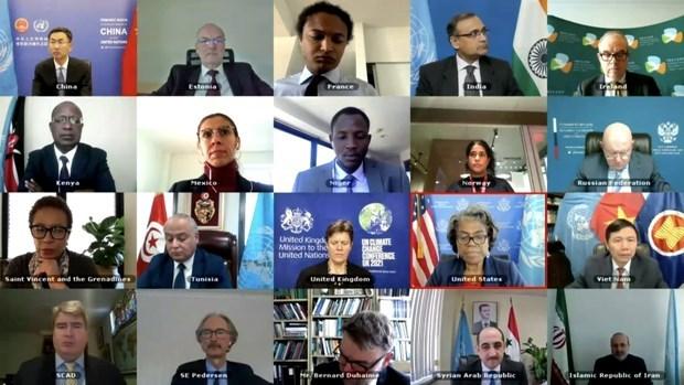 越南与联合国安理会:越南呼吁树立互信和加强叙利亚各方之间对话 hinh anh 1