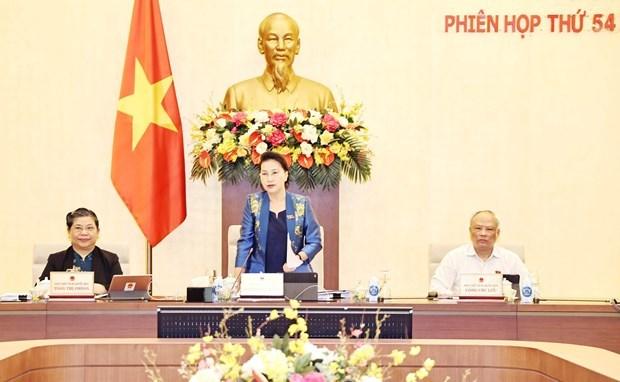 越南国会常务委员会第54次会议:第十五届国会工作成效显著为国家发展做出重要贡献 hinh anh 1
