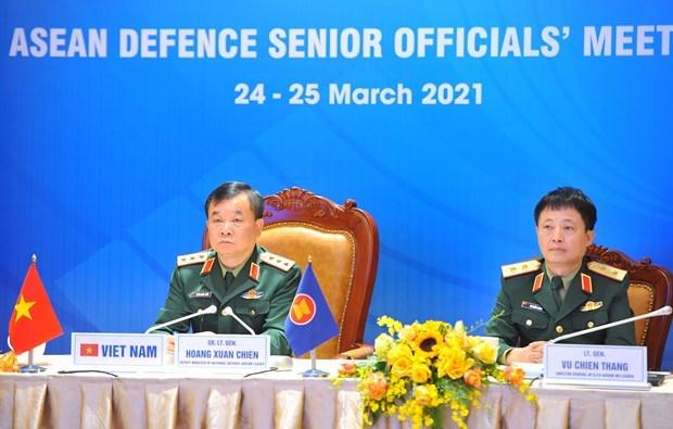 东盟国防高级官员会议在线上举行 hinh anh 1