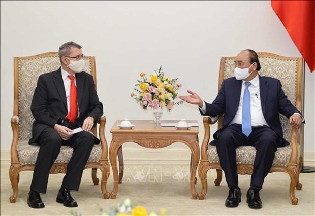 越南政府总理阮春福会见奥地利驻越大使 hinh anh 1