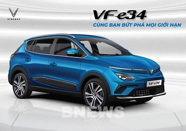 VinFast正式发售首款VF e34电动汽车 hinh anh 1