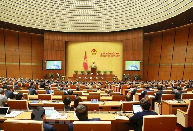 越南第十四届国会第十一次会议第二周工作开始审议并决定国家重要部门的领导职务 hinh anh 1
