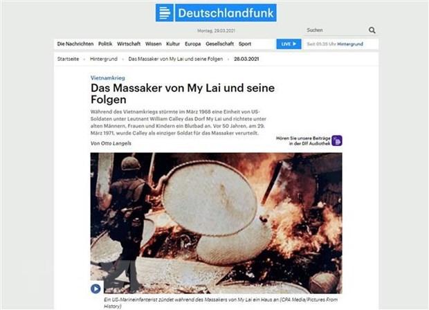 德国历史学家:广义省美莱大屠杀是可怕的战争罪行 hinh anh 1