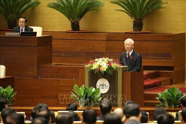 第十四届国会第十一次会议:讨论国家主席和政府的2016-2021年任期工作报告 hinh anh 1