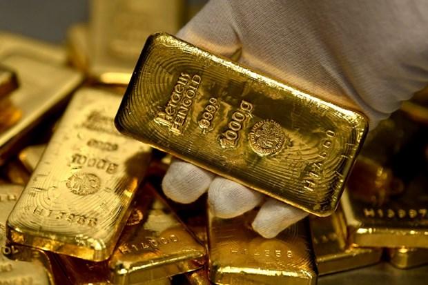 今日上午越南国内市场黄金价格每两下降15万越盾 hinh anh 1