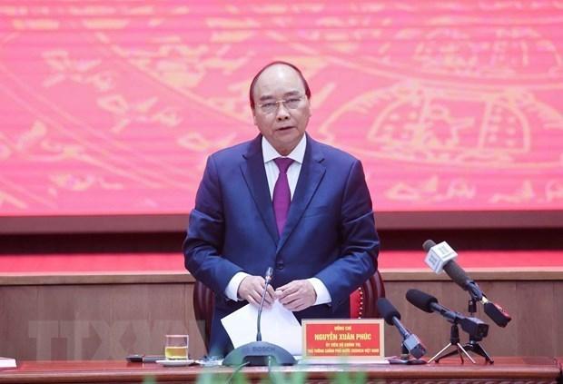 阮春福总理:河内市应更加注重卫星城市的发展 hinh anh 1