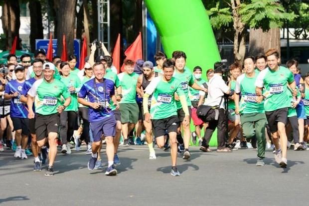 2021年奥林匹克跑步日在胡志明市举行 吸引5000名跑者参加 hinh anh 1