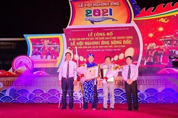 金瓯省迎翁节被列入国家级非物质文化遗产名录 hinh anh 1