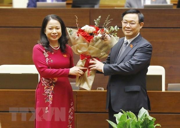 十四届国会十一次会议:武氏映春当选为越南社会主义共和国副主席 hinh anh 1