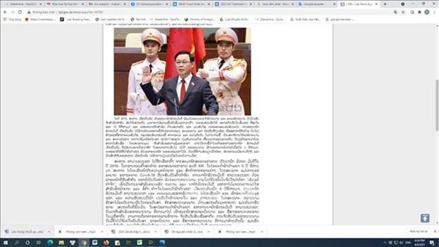 老挝媒体高度评价越南国会完善国家领导体制 hinh anh 1