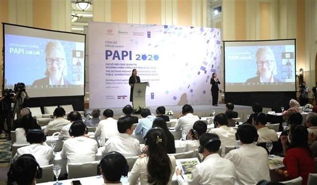 2020年PAPI报告:越南省级公共行政和治理发生积极变化 hinh anh 1