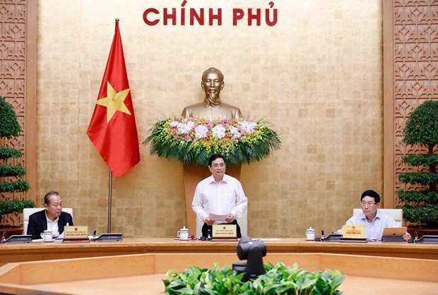 越南政府总理范明政主持召开政府会议 hinh anh 1