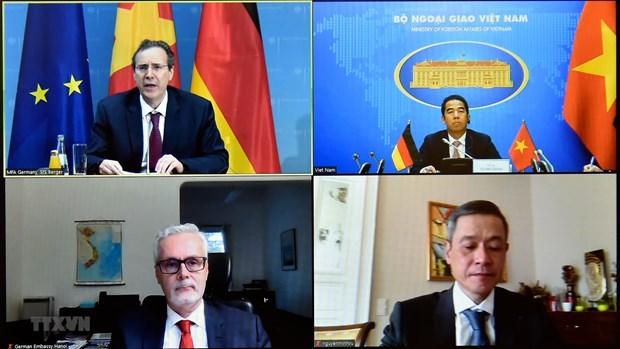 越南-德国战略指导小组第六次会议以线上方式召开 hinh anh 1