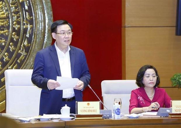 国会主席王廷惠:代表工作小组需集中做好选举准备工作 hinh anh 1