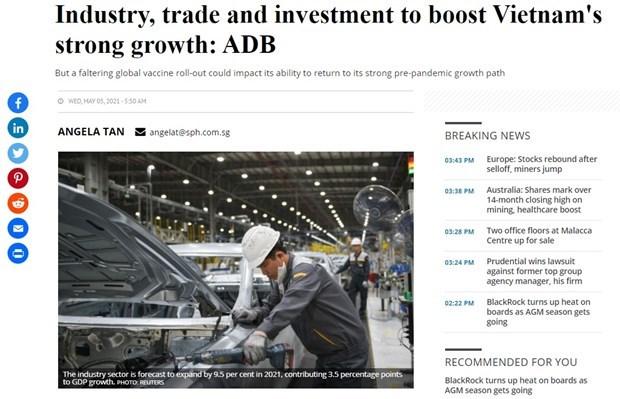 亚行对越南经济增长展望较为乐观 hinh anh 1
