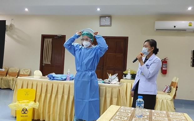 老挝对越南卫生专家代表团所分享的经验予以高度评价 hinh anh 1