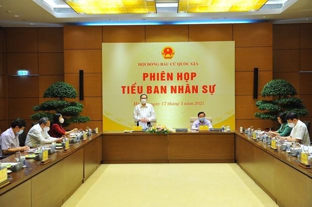 国会和人民议会代表换届选举:密切协调并准确地开展人事工作 hinh anh 1