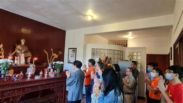 越南驻莫桑比克大使馆举行胡志明主席诞辰131周年纪念仪式 hinh anh 1