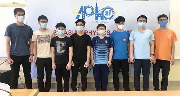 越南学生在2021年亚洲物理奥林匹克竞赛中得分最高 hinh anh 1