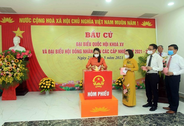 越南大多数地区选民投票率较高 hinh anh 1