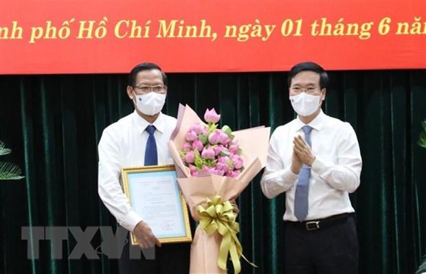 潘文买同志任胡志明市委常务副书记 hinh anh 1
