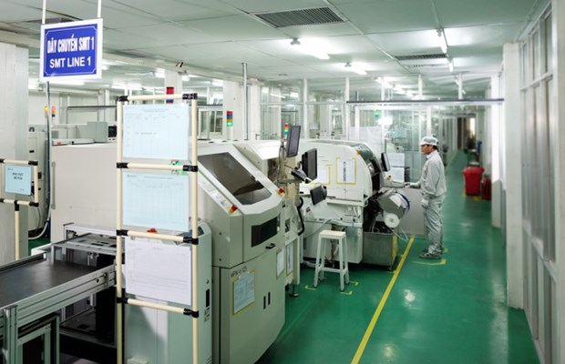 在二号高新技术工业园区投资的10家投资商年均营业额超6万亿越盾 hinh anh 1