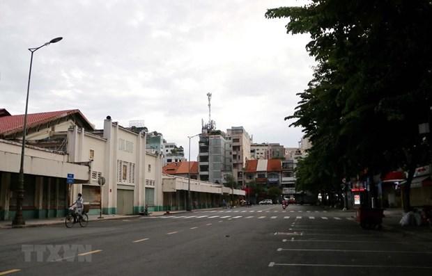 新冠肺炎疫情:胡志明市封锁另外6个地区 暂停出租车运营 解散自发市场 hinh anh 1