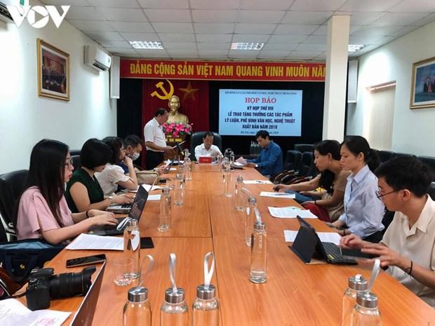 Trao tang thuong cho 15 tac pham ly luan, phe binh van hoc, nghe thuat xuat ban nam 2019 hinh anh 1