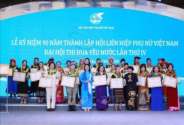 Chu tich Hoi Phu nu Viet Nam Ha Thi Nga: Dia vi phu nu trong xa hoi va gia dinh ngay cang duoc nang cao hinh anh 1